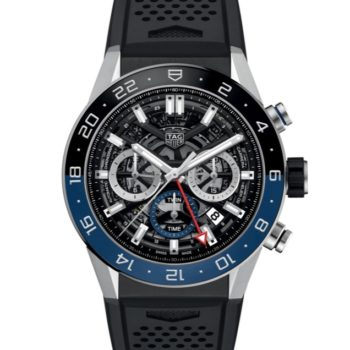 TAG Heuer Carrera  Heuer 02 Automatic GMT Mens Black Rubber Chronograph