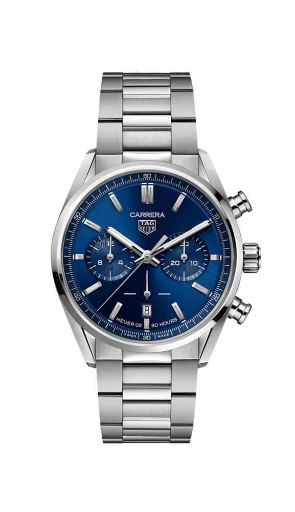 TAG Heuer Carrera  Heuer 02 Automatic Mens Blue Steel Chronograph