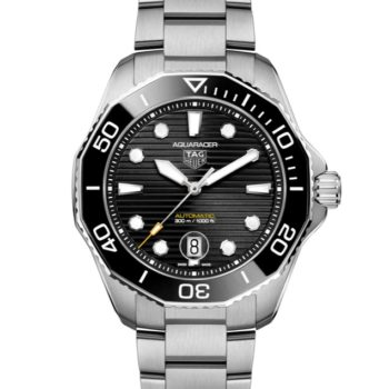 TAG Heuer Aquaracer Professional 300 Mens White Steel and Black Watch